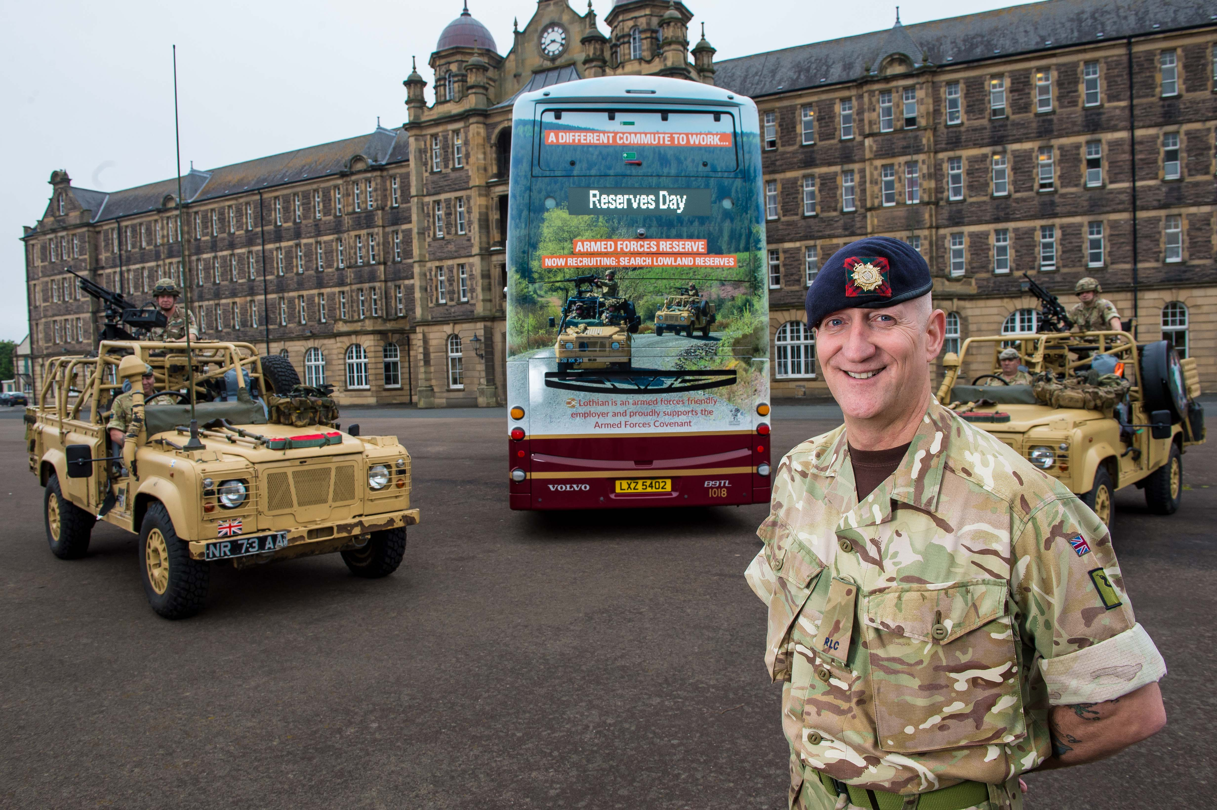 Lothian Buses continue commitment to Armed Forces Reserve
