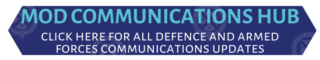 Link to .gov.uk online information for Defence and Armed Forces News and communications