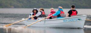 Sea Cadets rowing in Scotland