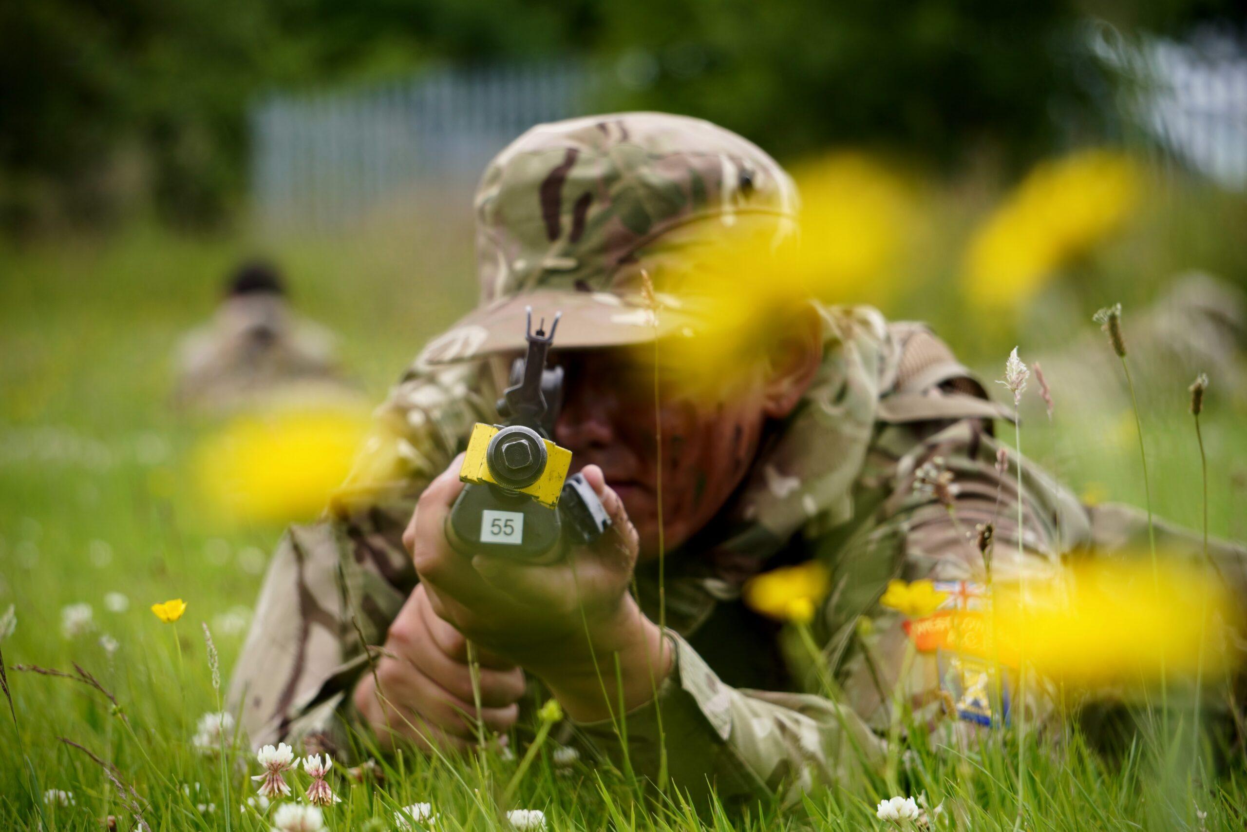 Cadet In Long Grass